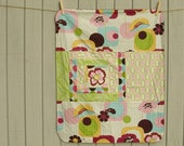 Reserved for Stefanie... Baby girls cotton and minky blanket for baby, toddler, kids