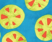 Turquoise, Clementine(Orange)and Pear(Yellow/Green) Big Dot from the Stitch in Color Collection, by Moda, 1 yard