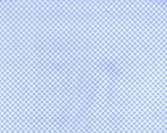 Blue Checks Cotton Fabric, by Michael Miller, 1 yard