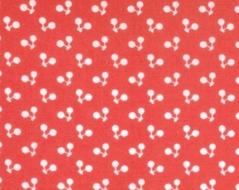 Hoopla Cherries in Red and White, by Moda, 1 yard