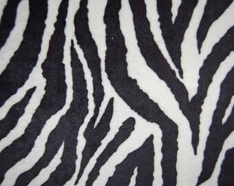 Zebra(Black and White) Cuddle (Minkee), by Shannon Fabrics, 1 yard