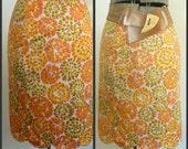 Mod Print Half Slip Skirt Vanity Fair Vintage 1970s