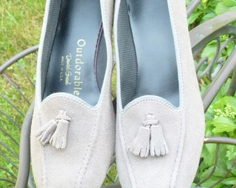 Tassel Loafer Wedge Shoes Vintage 1970s Daniel Green