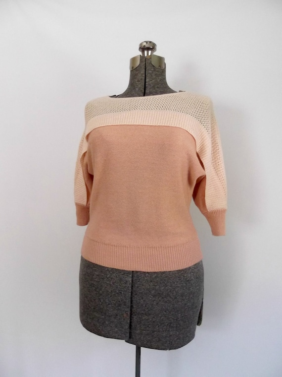 1970s Vintage Pullover Sweater/Colorblock/Dolman Sleeves//Savion by Ignacy Feuer