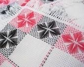 Vintage embroidered tea napkins set of 6 with runner