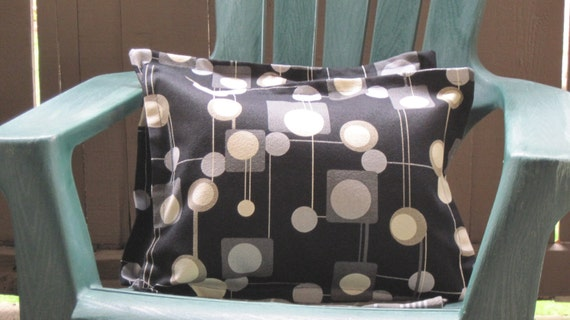 Set of Two Mid Century Modern Barkcloth 12 x 16 Pillow Covers - New Vintage Inspired