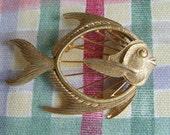 vintage 1960's Fish retro pin brooch