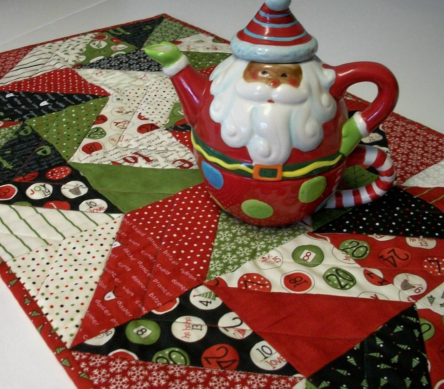 Christmas table runner countdown to winter holiday