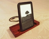Kindle - Nook - eReader - Charger and Sync Station - Oak -  Brass style V1 Kindle Dock