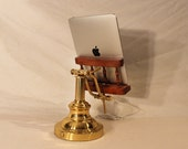 iPad - iPhone - iPod -  OOAK Deluxe Dock - Sync and Charging Station- Oak - Wing Arm Style- Adjustable - 30 pin or Lighting