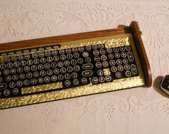 Keyboard Mouse Combo - Antique looking Victorian Styling - Steampunk-Typewriter-Gold Leaf Style-