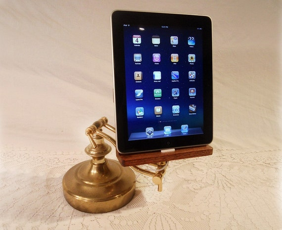 iPad - iPhone - iPod - Dock - Sync and Charging Station- Oak - Wing Arm Style- Adjustable (Yes for the iPad )