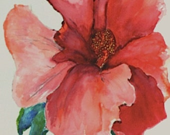 HIBISCUS WATERCOLOR Digital Print