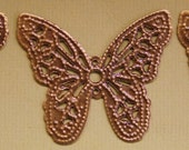 Butterfly Filigree Antique Brass Colored 27 x 32mm 6pcs Please use coupon code STORECLOSING50 for 50% off your purchase