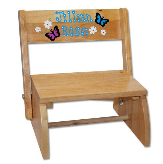 Personalized step stools for children custom wooden