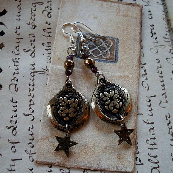 Star Rose - Earrings