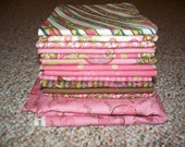 SALE Pack Your Bags by Moda Fabric Pink 12 Fat Quarters plus one yard