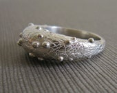 Ring: Large Scribbly, Bumpy, Sterling Silver