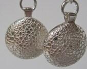 Drop Earrings: Me & You, sterling silver