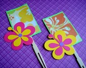 Tropical Hibiscus Flower Cupcake Topper