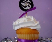 Zebra Glam Cupcake Toppers