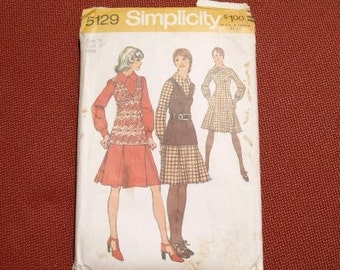 1972 Simplicity pattern dress and top 5129