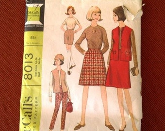 1960s McCalls pattern 8013 skirt jacket blouse
