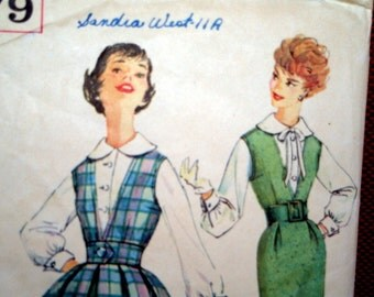 Simplicity jumper and blouse dress pattern