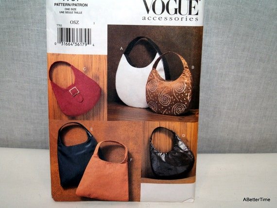 Vogue purse bag pattern accessory