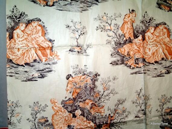 Polished cotton Victorian fabric yardage
