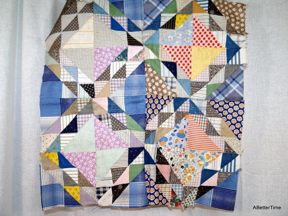Vintage Quilt squares antique