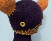 Purple and Orange Sock Monster