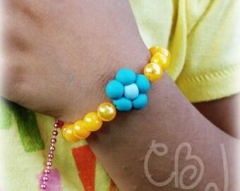 Dora the Explorer blue flower Bracelet