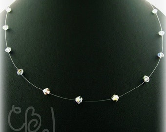 Swarovski Crystal Illusion Necklace Clear Crystals
