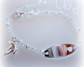 ID Baby Bracelet, Baby Bracelet, Sterling Silver ID Bracelet, Silver Bracelet, ID Bracelet, New Born Bracelet, Baby Gift