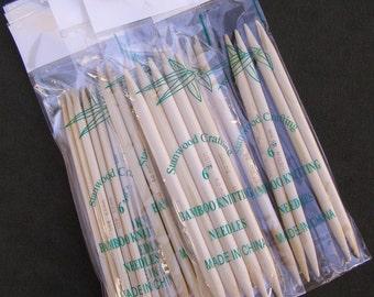 Stanwood Needlecraft - 6-inch Double Point Bamboo Knitting Needles, Sizes US 1-11