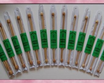 Stanwood Needlecraft - 9-inch Single Point Bamboo Knitting Needles, Sizes US 1-13