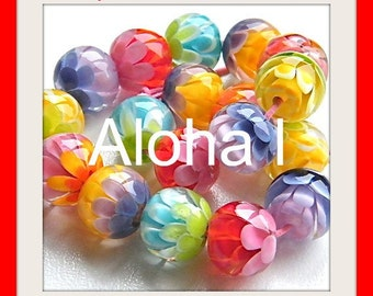 Aloha l  Chrysanthemum Beads Tutorials by Caroline Dousi