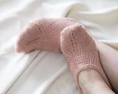 Body luxurious summer silk hand knitted socks slippers for women EUR 39 / 40 - US 8,5 / 9 / 9,5