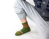 hand knitted wool socks for men