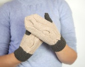 SALE 20 % Gnomis hand knitted mittens for women size S/M