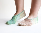Happy feet mint fresh soft hand knitted socks slippers for women MADE TO ORDER