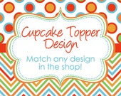 Matching Goody Bag Topper digital YOU PRINT DIY match any design in my shop Goodie Treat