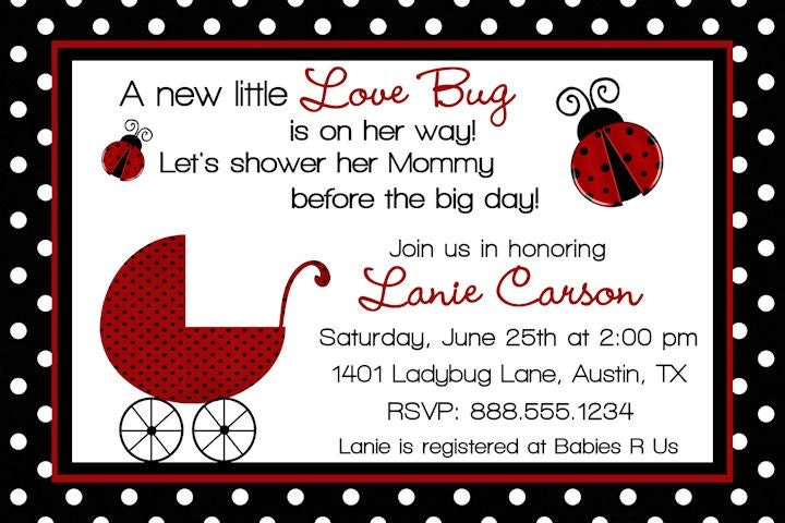 Ladybug Baby Shower Invitation correctly perfect ideas for your invitation layout