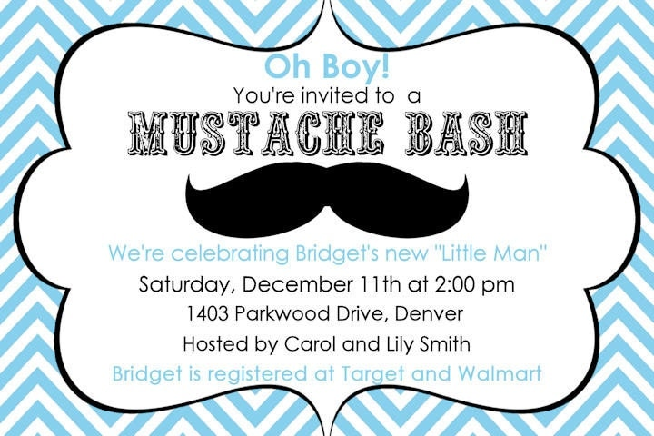 Mustache baby shower invites diabetesmangfo mustache baby shower invitation printable moustache digital baby shower filmwisefo