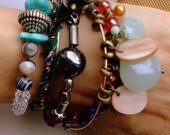 Gypsy Bangle stack, Urban Goddess, Festival Glam, salvage style