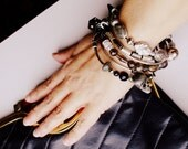 Gothic Bangle Stack Gypsy Rock Girl Festival Grunge Bangles Salvage Style