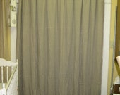 "Deposit Listing for Caren----Natural Flax Linen Shower Curtain-3"" Ruffled Hem in Flax-----Oatmeal Washed Linen Rod Pocket French Door Panel"