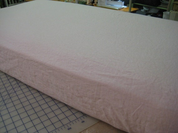 Washed Linen Crib Sheet-Fitted Crib Sheet in Washed Linen-Your Color Choice-Crib Bedding Fitted Sheet-Crib Size Sheet for Baby