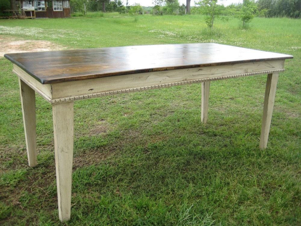 Farm Table Primitive Style In Distressed By Cottageandcabin